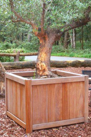 Jardinières en bois FSC- classique de luxe carré