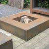 Table de feu de CorTen carré