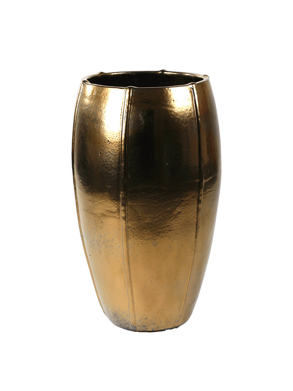 Pots de fleur ceramique gold